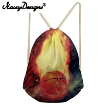 NOISYDESIGNS Travel Men Backpack Cool Basketball/rugby Prints Men's Drawstring Bag School Boys Small Softback Bagpack Mochila