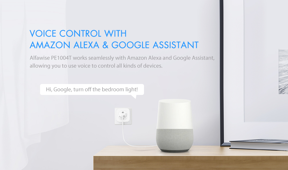 Enchufe Inteligente WiFi para Amazon Alexa y Google Home