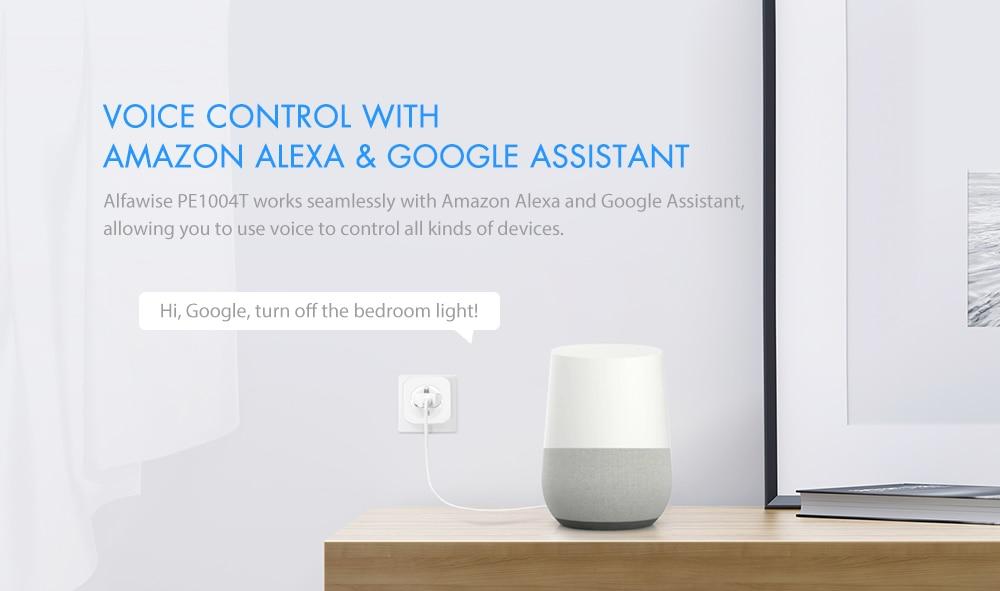 Enchufe Inteligente WiFi para Amazon Alexa y Google Home