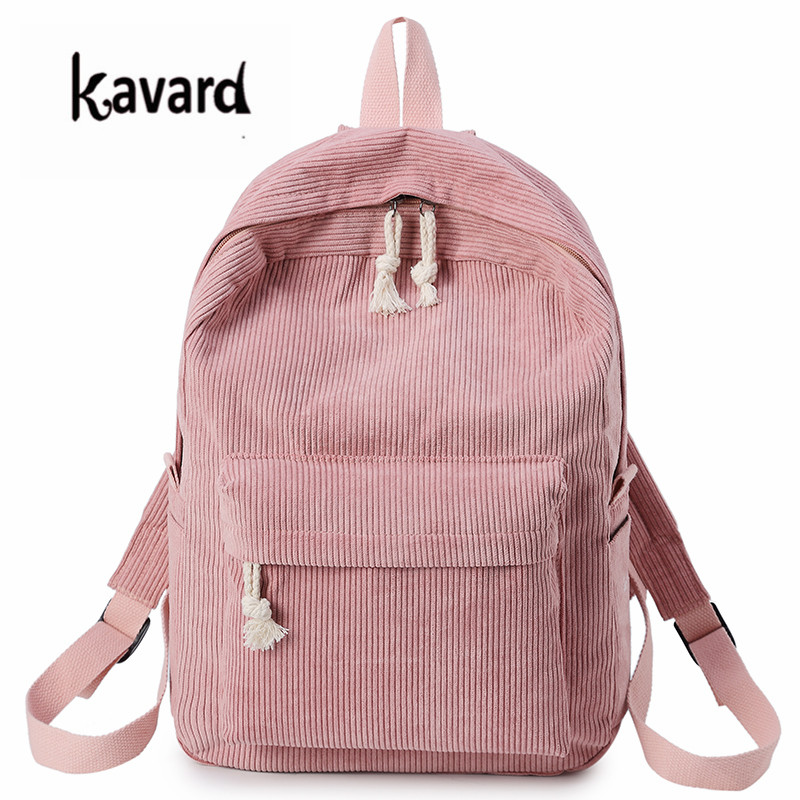 Kavard Backpacks Women Nylon Bagpack Softback Solid Bag Fashion Soft Handle Mochilas Mujer Escolar Rucksack School Bag For Girls