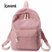 d8213998b Kavard Backpacks Women Nylon bagpack Softback Solid Bag Fashion Soft Handle  mochilas mujer Escolar rucksack School Bag for girls