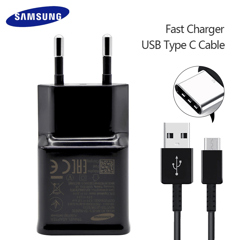 Samsung S8 S9 Plus Fast Charger Original For Samsung Galaxy S 9 8 note 8 Adaptieve Fast Charger Travel Adapter 9V 1. 67A