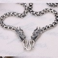 6MM Handmade Thailand 925 Sterling Silver Dragon Necklace for Men Vintage Pure Silver Dragon Necklace