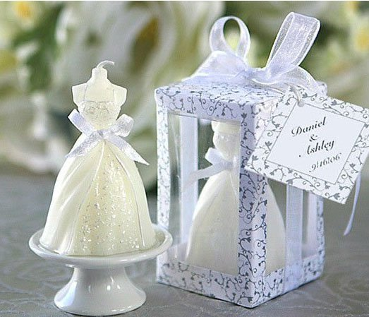 Wedding Favor Gift, Bride Candles With PVC Box,  Party Valentine's Gift  Craft Candle Free Shipping