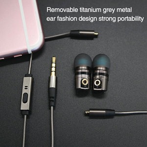 Image 2 - TRANSCTEGO earphones and headphone with microphone In Ear metal plug wire headset detachable removable headsets