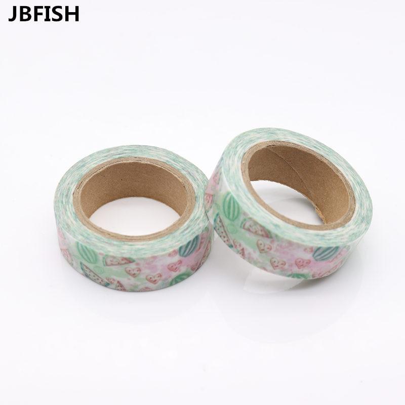 JBFISH Decorative tape Scrapbook Paper Masking Adhesive Tape watermelon washi tape watermelon 8114