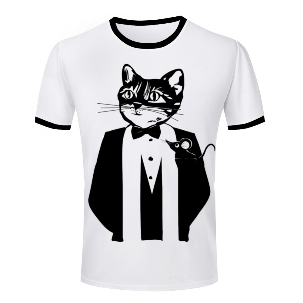 Wholesale unique tuxedo print t shirt mens personality 3d for Printed t shirts in bulk