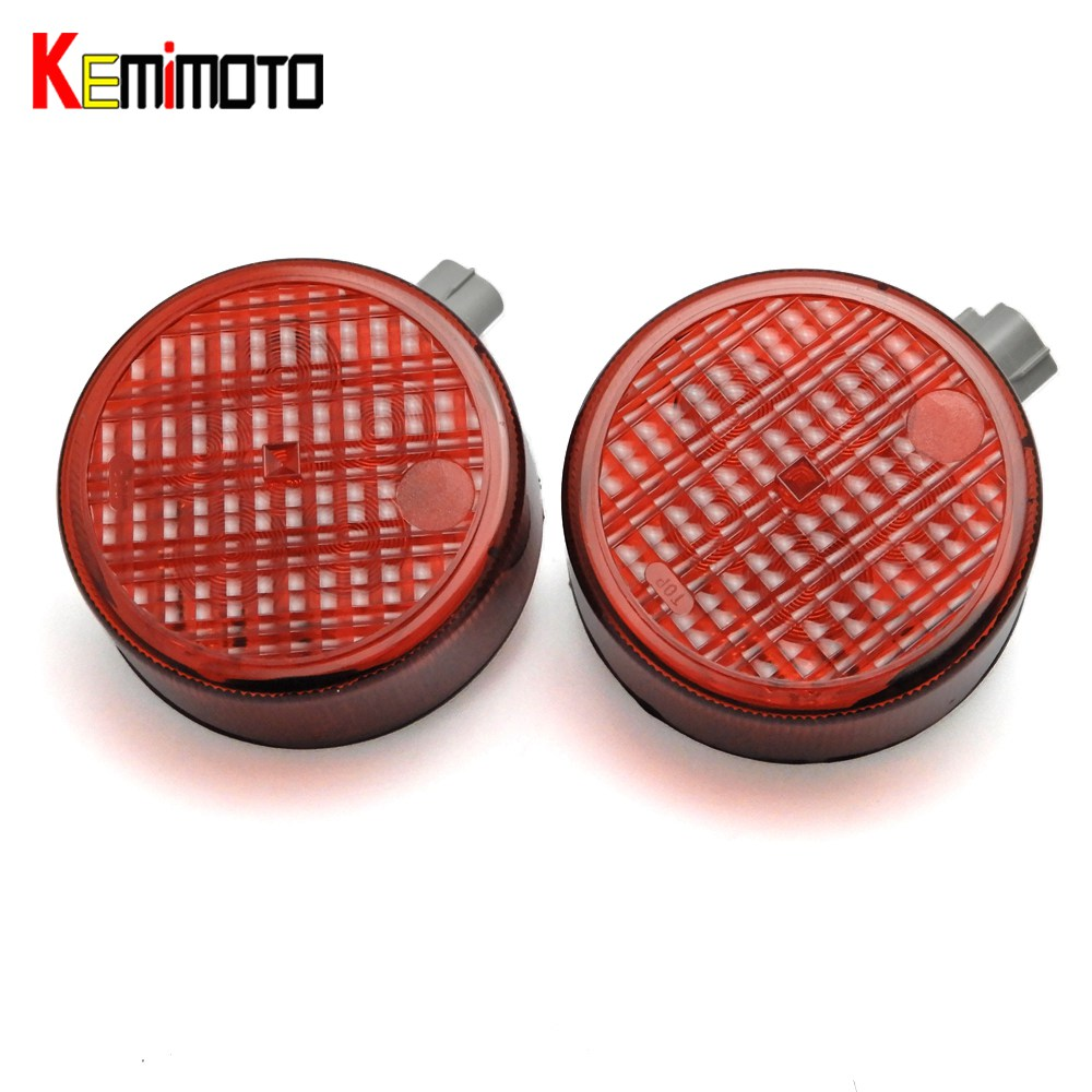 KEMiMOTO a pair for Kawasaki teryx Teryx4 Red LED Rear Tail Brake Lights Reverse Lamps for Teryx4 750 4x4 Teryx4 CAMO 2012-2016