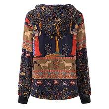 Women's Vintage Floral Winter Hooded Faux Fur Jacket