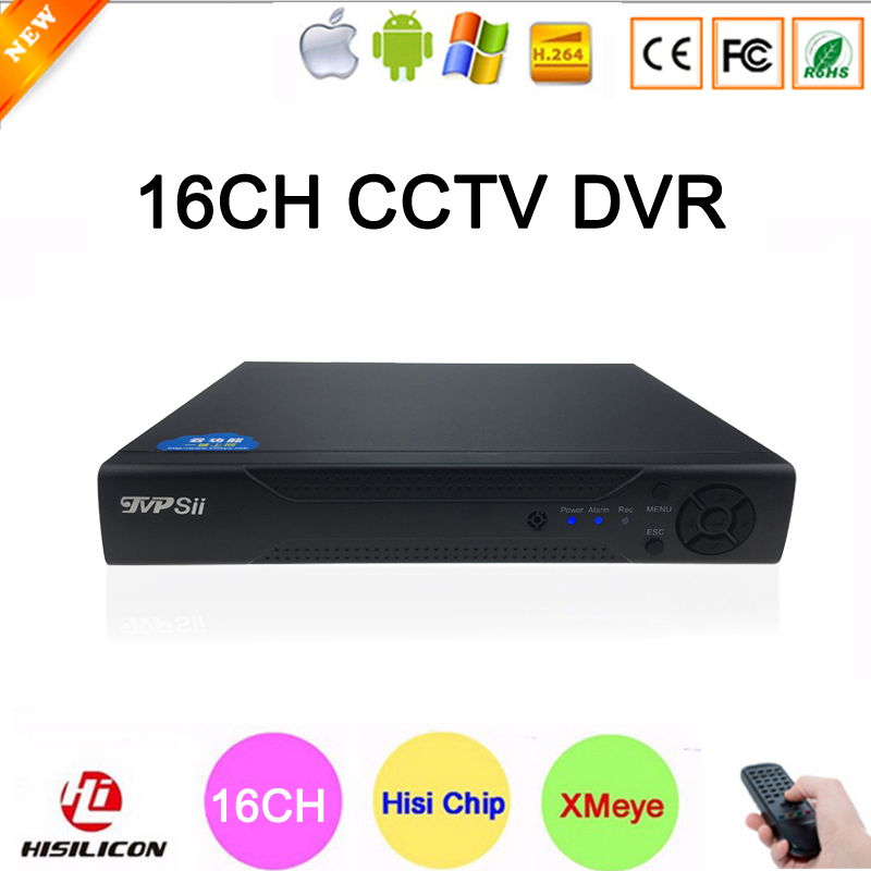 ФОТО Free Gift Analog Camera H.264 XMeye 16CH 16Channle Surveillance Video Recorder CCTV DVR With Remote Control Free Shipping