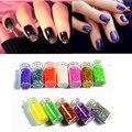 12 bottles/set DIY Nail Art Decorations Powder Dust 3D Nail Art Bottle Tip Set 12 Colors Pigment Nails Art Glitter Colors