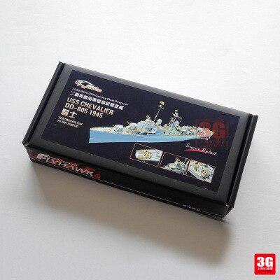 Modèle d'assemblage Yingxiang modèle 1/350 Weilong Chevalier DD-805 feuille de gravure jouets