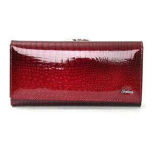 Image 3 - Echtes leder brieftasche frauen alligator lange kupplung handtasche kuh leder weibliche brieftaschen berühmte designer frauen geldbörsen