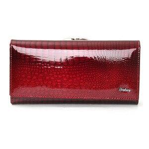Image 3 - genuine leather wallet women alligator long clutch purse cow leather female wallets famous designer womens purses