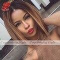 Кружева передние парики шнурка ombre парики боб короткие синтетические волосы glueless парик фронта шнурка черный коричневый для чернокожих женщин бесплатно доставка