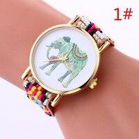 Moda Casual Reloj de pulsera de Cuarzo Reloj de Pulsera de Cuero de Las Mujeres Rhinestone Vestido Reloj de Señora Rhinestone de Lujo Tejido de Perlas Regalo