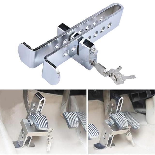 Universal Auto Auto Bremse Kupplung Pedal Lock Edelstahl Anti Diebstahl Starke Sicherheit Für Autos Lkw Kupplung Pedal Accelerator