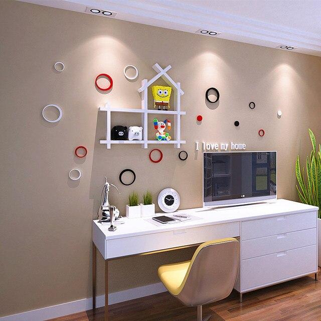 Pengiriman Gratis Diy Hiasan Rumah Kayu Latar Belakang Tv Rak Dinding Untuk Ruang Tamu