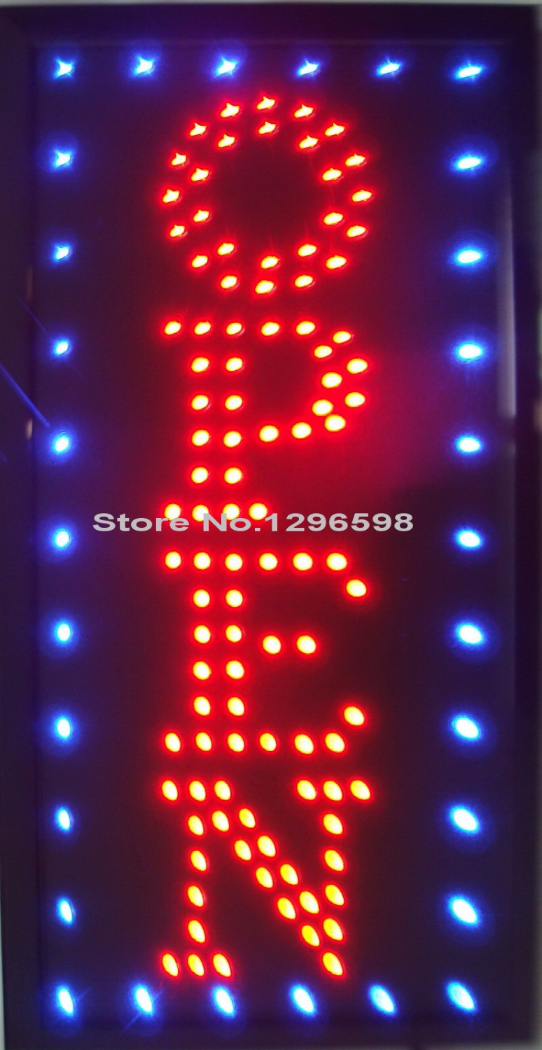 Customize Imput LED Open sign neon light eye-catching slogans indoor size 10*19 inch red/blue color