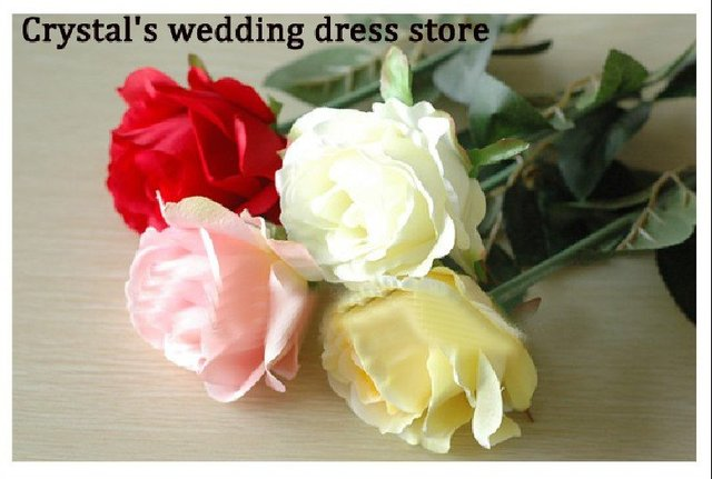 Free shipping 2011 Newest HOT-sale.Silk/Simulation/Artificial flower Camellia Romantic,Colorful Rose Wedding/Bridal bouquet,BO29