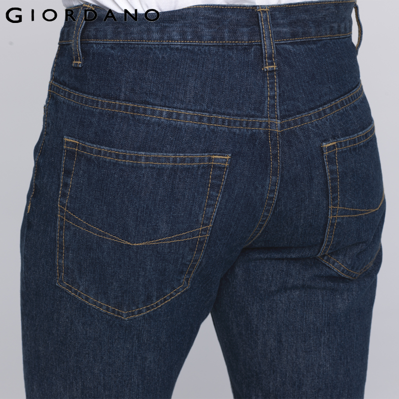 Giordano Men Brand Jeans Fashion Casual Male Denim Pants Trousers Cotton Classic Straight Jeans Masculina