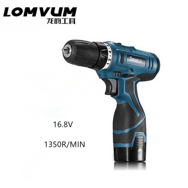 16.8V lithium battery rechargeable Wireless mini electric drill bit multifunctional cordless electric screwdriver power tool set