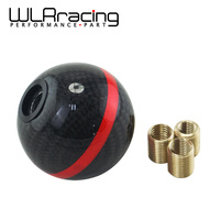 WLR RACING Real Carbon Fiber Gear Shift Knob Manual Automatic Spherical Shift Knob For Honda Acura/TOYOTA/NISSAN GSK06 0CF