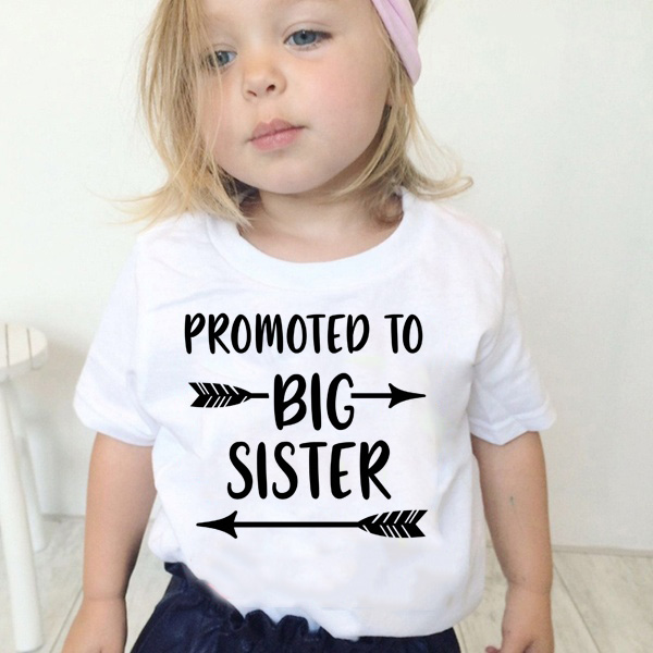 Shirt Children Short-Sleeve Graphic Sister Funny Promoted Girls Summer Kawaii Printed