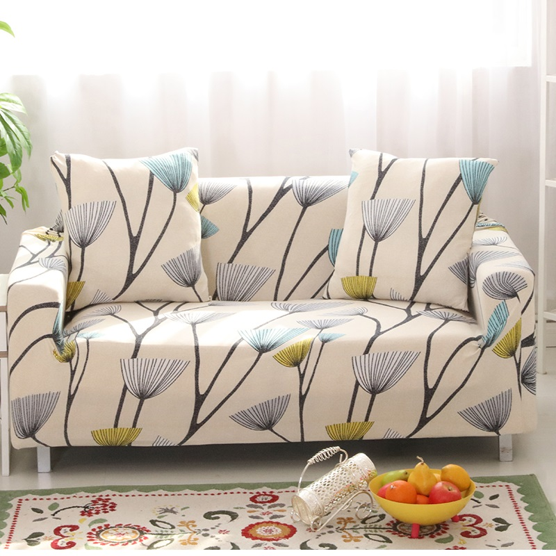Dandelion Printing Stretch Sofa Cover Elastic Couch Cover