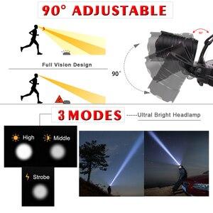 Image 3 - 7000 Lumen XHP 70.2 led Headlamp Fishing Camping headlight High Power lantern Head Lamp Zoomable USB Torches Flashlight 18650