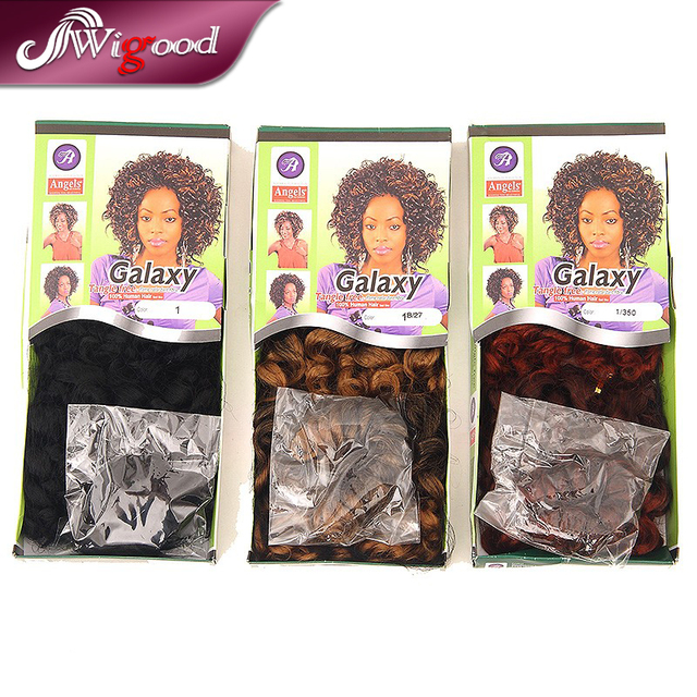 Angels Hair Synthetic Curly Weaves Tangle Free Flame Retardant Fire