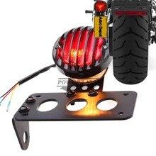 Мотоциклетный номерной знак кронштейн задний светильник 12 в тормозной задний светильник для Harley Choppers Sportster Bobber nighster Sportster XR1200