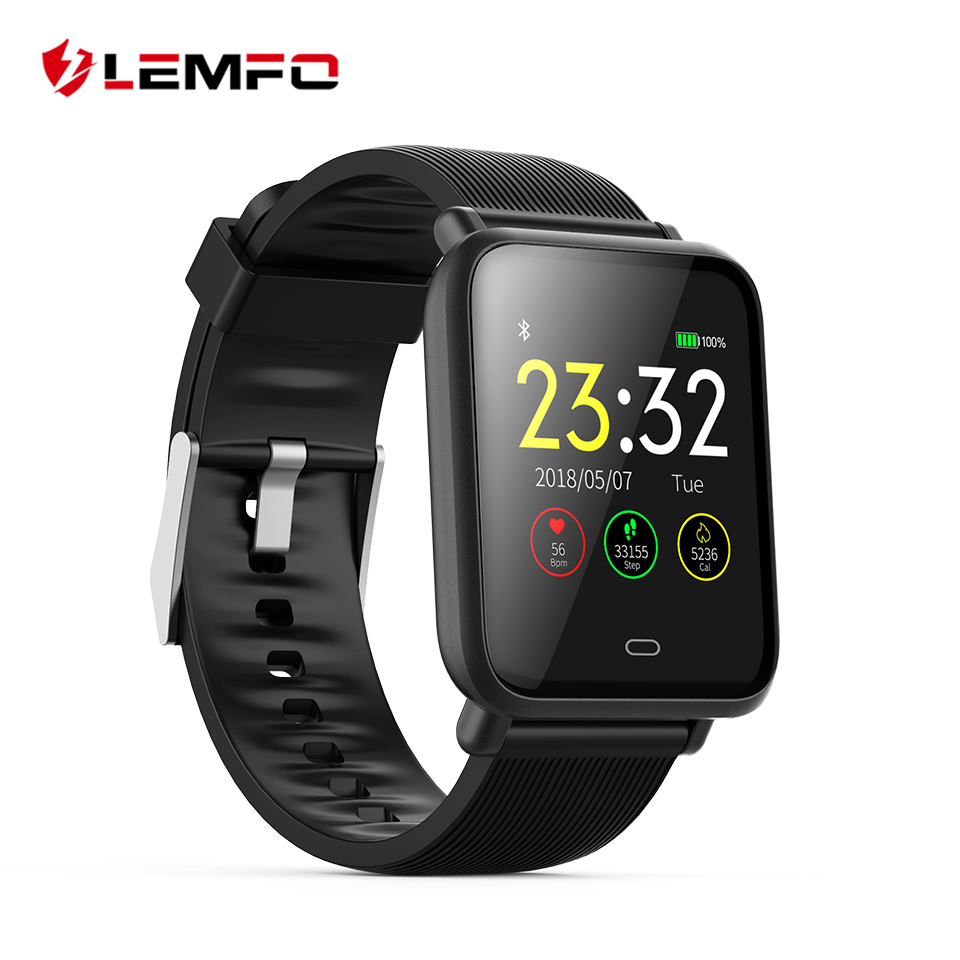 цена LEMFO Q9 Smartwatch Waterproof IP67 1.3 Inch TFT Display Pedometer Heart Rate Blood Pressure Blood Oxygen Monitoring Smart Watch