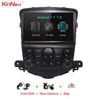 KiriNavi Octa Core Android 7,1 автомобильный DVD для Chevrolet Cruze Android Мультимедиа Стерео gps навигации Автомобильный dvd радиоплеер Wifi BT