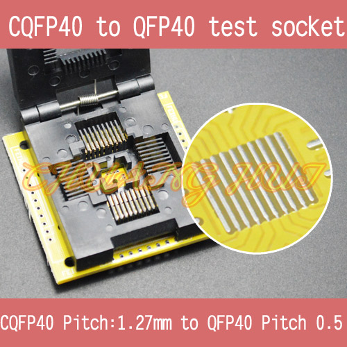 CQFP40 to QFP40 test socket QFP40 1.27mm to QFP40 0.5mm IC SOCKET qfp40 ic test conversion chip ic programming block qfp40