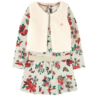 Baby Girls Clothing Fashion 2 In 1 Dress False Fur Thick Two Piece Dress Long Sleeve