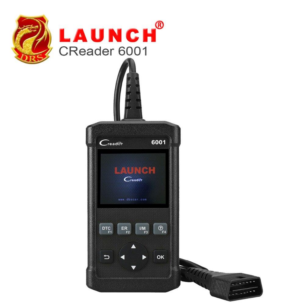 imágenes para NUEVA LLEGADA! DIY Lanzamiento OBD2 Lector de Código de CReader 6001 OBDII Completo funciones de Soporte de Control de la Prueba Del Sensor De O2 sistema de A Bordo