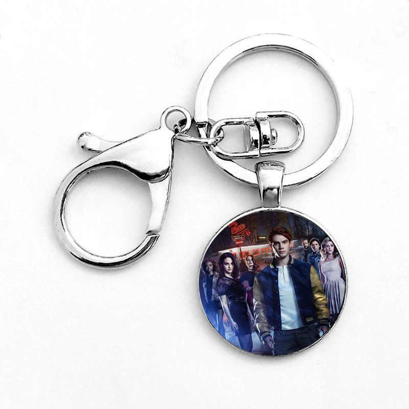 Новая мода ривердейл брелок со стеклянным кабошоном Брелки Пара Ожерелья Подвески Для женщин Для мужчин ювелирные изделия в стиле Мстителей танос