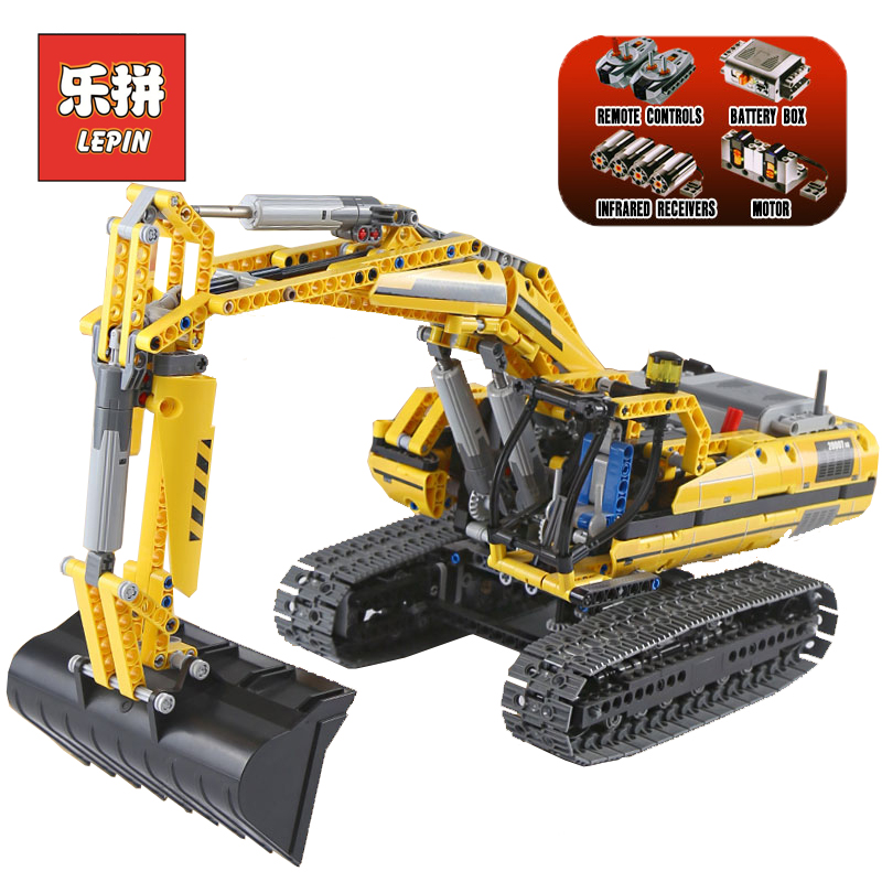 LEPIN 20007 Technic Series RC Engineering Excavator DIY Set Model Building Kits Blocks Bricks Children Toys Christmas Gift 8043 lepin 21004 technic series create f40 sports car diy set model building kits blocks bricks children toys christmas gift