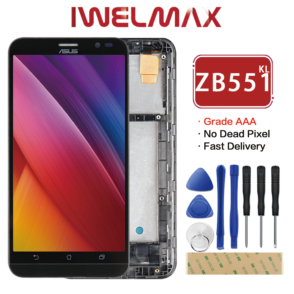 Original 5.5 ASUS Zenfone Go TV ZB551KL LCD Display X013DB TD-LTE Touch screen with Frame Digitizer Assembly Replacement ...