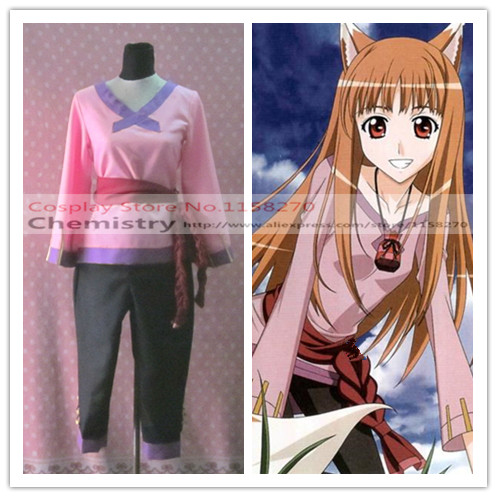 Free shipping Spice and Wolf Holo Cosplay Horo any size Costume