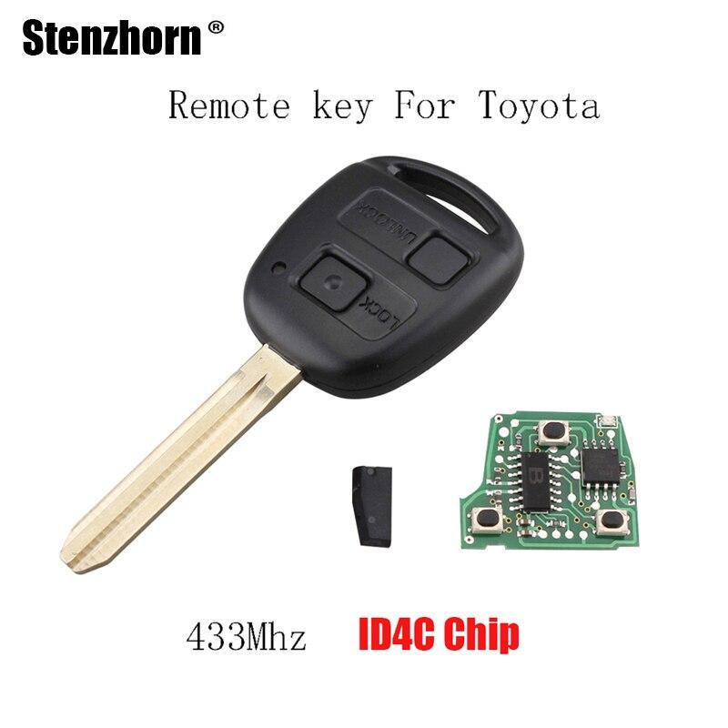 Stenzhorn 2 пуговицы чипа 4C удаленный ключевой для Toyota Camry Prado Corolla 433 мГц оригинальный ключ