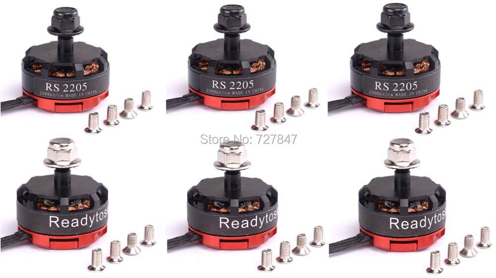 6 Teile/los RS2205 2300KV 2205 3CW/3CCW Brushless Motor für FPV Racing Quad Motor FPV Multicopter Mars QAV-X QAV210