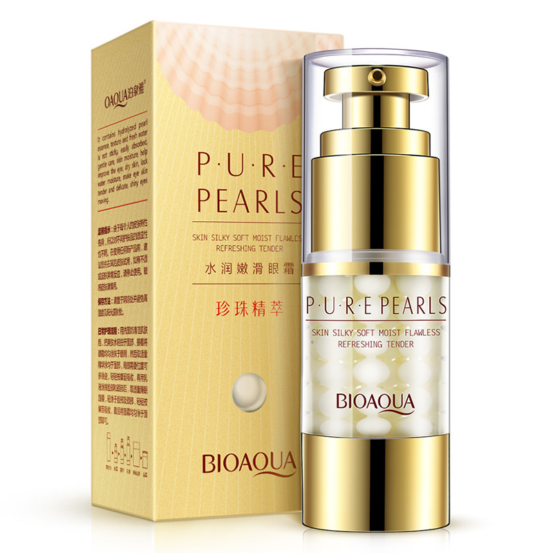 Bioaqua Pearls Eye Cream Anti aging Anti Puffiness Eye Care Essence Cream For Remover Dark Circle Whitening Firming Skin Care