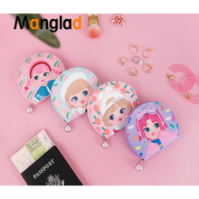 Folder Girls Cosmetic Case Candy Girl Peach Flower Jewellery bag Women Cute Korea Japan Jewelry Pouches Necklace Bag Box