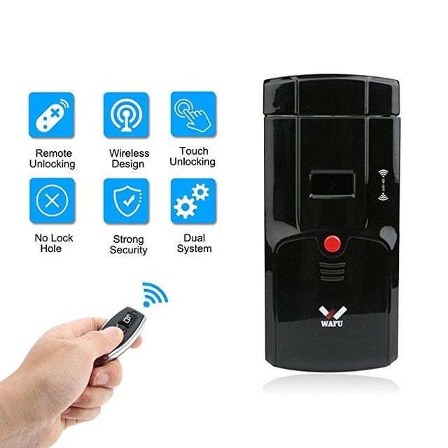 2018 New Wireless Security Invisible Keyless Entry Door Lock Anti