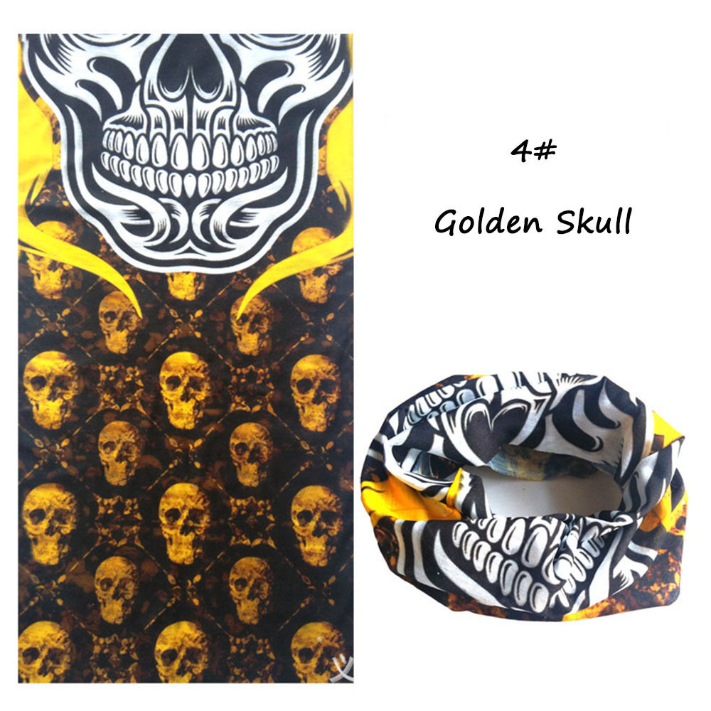 Newest Bandanas Riding Skull Bicycle Motorcycle Riding Variety Turban Magic Headband Multi Head Scarf Scarves drop shipping