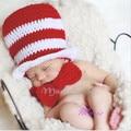 Jazz Hat +Ties Christmas Girls Child kids infantil Cotton Handmade Knitted Newborn New Born Infant for Baby Set