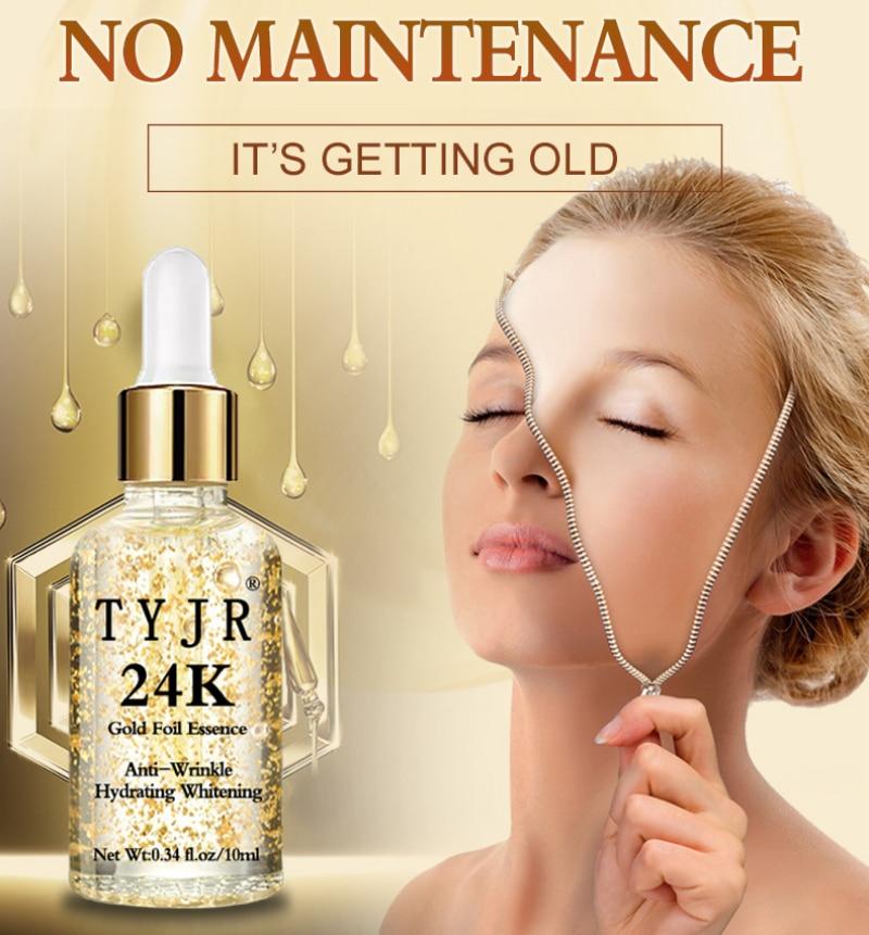 Aloe Vera&Snail&24KGold Foil Essence Acne Repair Skin Anti-Wrinkle Moisturizing Nourishing Whitening Facial Repair Care TSLM1