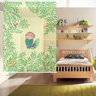 150 cm 200 cm green cartoon style kids children room for Room dividers kids